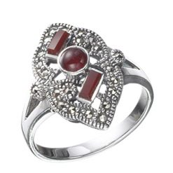 Marcasite jewelry ring HR0020 1