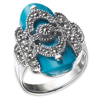 Marcasite jewelry ring HR0024 1