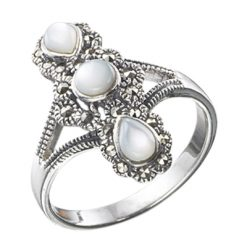 Marcasite jewelry ring HR0029 1