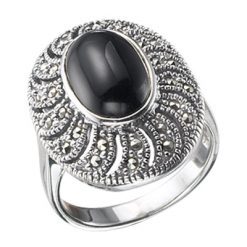 Marcasite jewelry ring HR0067 1