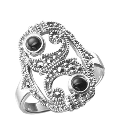 Marcasite jewelry ring HR0134 1