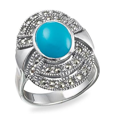 Marcasite jewelry ring HR0146 1