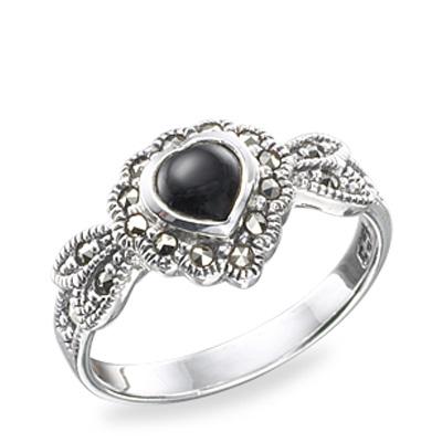 Marcasite jewelry ring HR0155 1