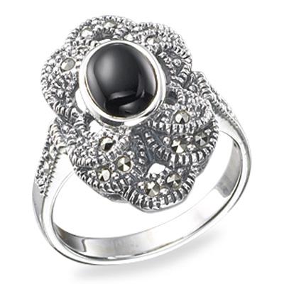 Marcasite jewelry ring HR0156 1