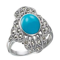 Marcasite jewelry ring HR0157 1