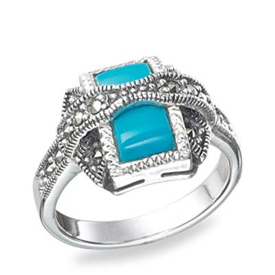 Marcasite jewelry ring HR0172 1