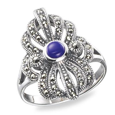 Marcasite jewelry ring HR0178 1