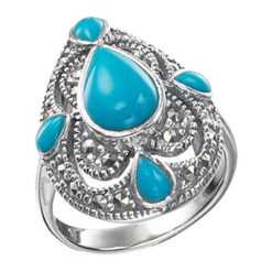 Marcasite jewelry ring HR0206 1