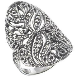Marcasite jewelry ring HR0244 1
