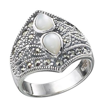 Marcasite jewelry ring HR0253 1