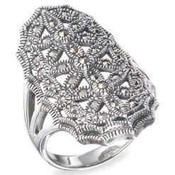 Marcasite jewelry ring HR0266 1