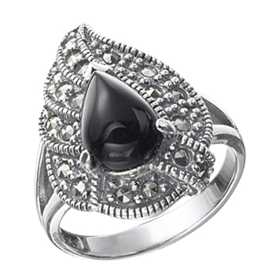 Marcasite jewelry ring HR0289 1