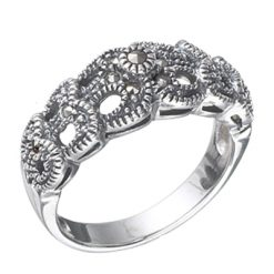 Marcasite jewelry ring HR0341 1