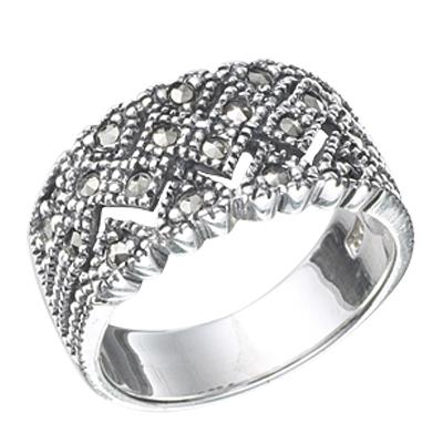 Marcasite jewelry ring HR0368 1