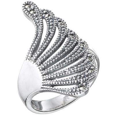 Marcasite jewelry ring HR0383 1
