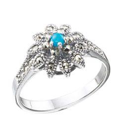 Marcasite jewelry ring HR0388 1