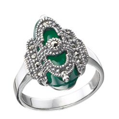 Marcasite jewelry ring HR0447 1