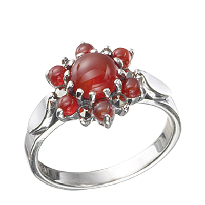 Marcasite jewelry ring HR0449 1