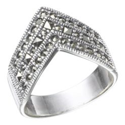 Marcasite jewelry ring HR0485 1