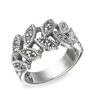 Marcasite jewelry ring HR0499 1
