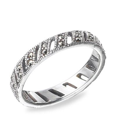 Marcasite jewelry ring HR0516 1