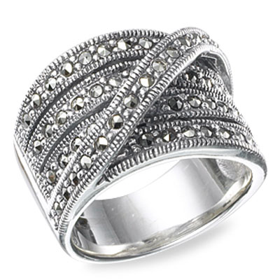 Marcasite jewelry ring HR0525 1