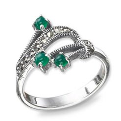 Marcasite jewelry ring HR0529 1
