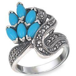Marcasite jewelry ring HR0542 1
