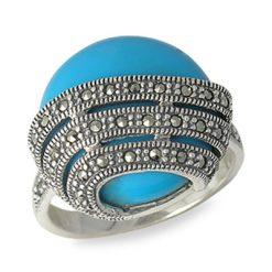 Marcasite jewelry ring HR0549 1