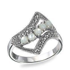 Marcasite jewelry ring HR0564 1
