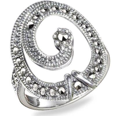 Marcasite jewelry ring HR0587 1