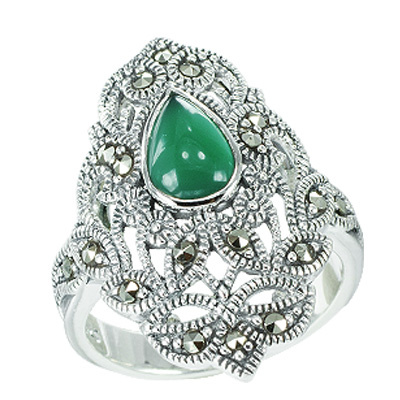 Marcasite jewelry ring HR0605 1
