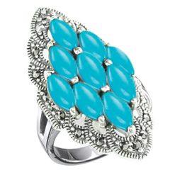 Marcasite jewelry ring HR0607 1