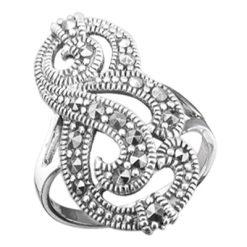 Marcasite jewelry ring HR0623 1