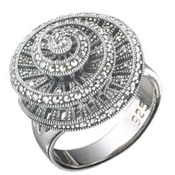 Marcasite jewelry ring HR0624 1