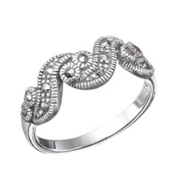 Marcasite jewelry ring HR0637 1