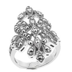 Marcasite jewelry ring HR0658 1