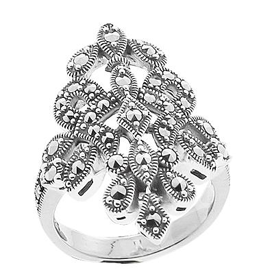 Marcasite jewelry ring HR0658 1