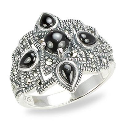 Marcasite jewelry ring HR0704 1