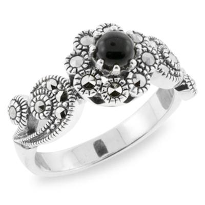 Marcasite jewelry ring HR0706 1