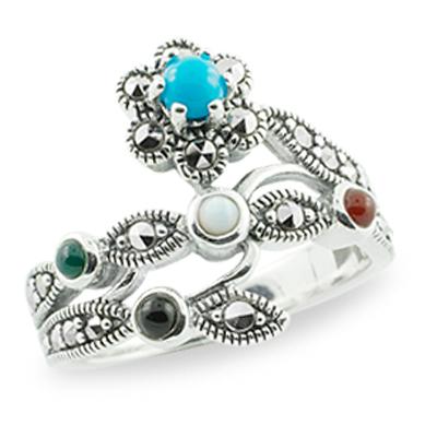 Marcasite jewelry ring HR0712 1
