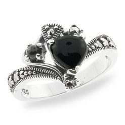 Marcasite jewelry ring HR0721 1