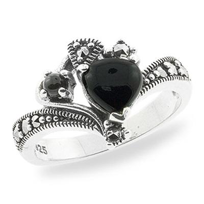 Marcasite jewelry ring HR0721 1