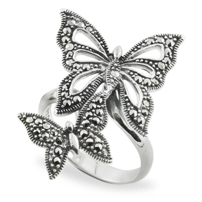 Marcasite jewelry ring HR0734 1