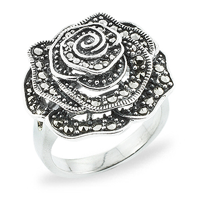 Marcasite jewelry ring HR0737 1