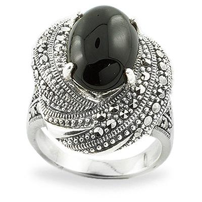 Marcasite jewelry ring HR0740 1