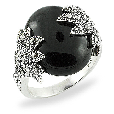 Marcasite jewelry ring HR0742 1