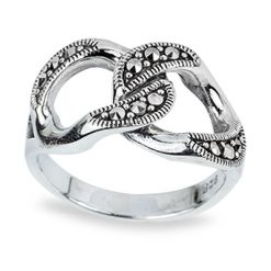 Marcasite jewelry ring HR0751 1