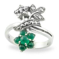 Marcasite jewelry ring HR0754 1