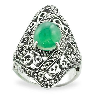 Marcasite jewelry ring HR0757 1